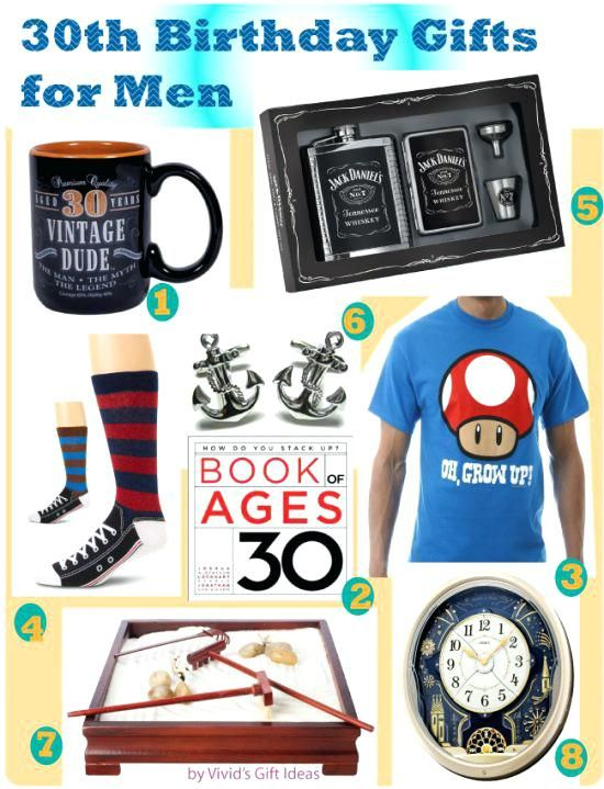 30th Birthday Gift Ideas For Him Gifts Men Present Best Friend