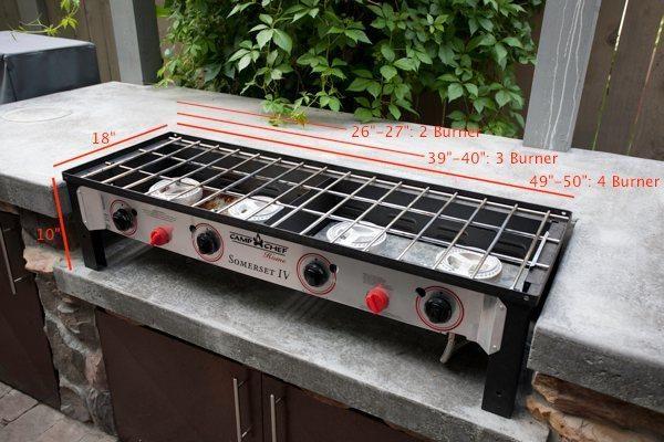 Camp Chef Home 2 Burner Stove Somerset Ii Outdoor Kitchen Bars Outdoor Cooking Stove Outdoor Kitchen