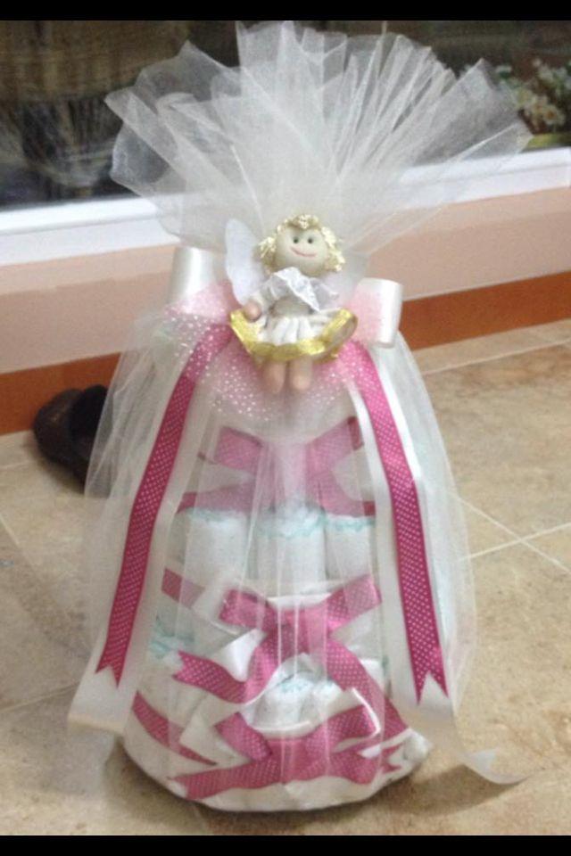 Hediyelik bebek bezi pastası:)