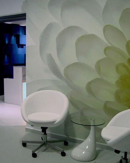 Διακόσμηση τοίχου ιατρείου με πόστερ φωτογραφική ταπετσαρία. Δείτε περισσότερα έργα μας στο http://www.artease.gr/interior-design/emporikoi-xoroi/