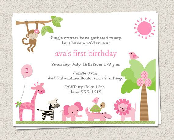Unique DIY Zoo Birthday Invitations Ideas On Pinterest - Childrens birthday cards for the queen