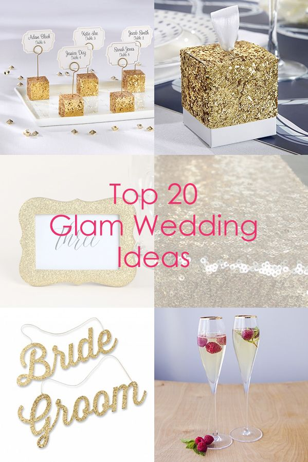 Find the perfect favors, decorations and supplies for a Glam Wedding!
