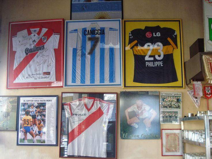 Framed soccer tshirts