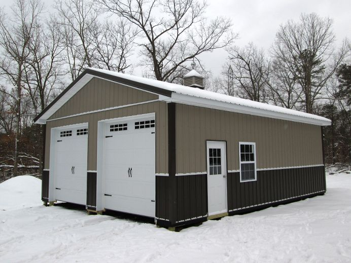 304 best garages images on pinterest garages garage for 4 car pole barn