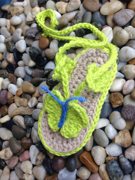 Crochet Pattern  Baby Beach sandals with by nuttypatterns on Etsy, $5.50