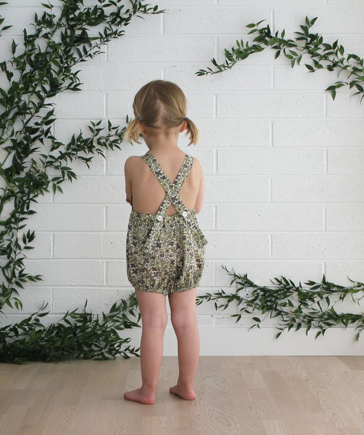 Image of Mabel Playsuit in Green Floral
