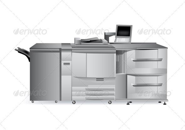 Digital Printer #GraphicRiver Printing Solutions: Digital Printer. Colored with gradient mesh. EPS10 and AI10 completely editable and high resolution JPG. Created: 4February13 GraphicsFilesIncluded: JPGImage #VectorEPS #AIIllustrator Layered: No MinimumAdobeCSVersion: CS Tags: commerce #computer #copier #copy #digital #duplicator #equipment #fast #house #industry #label #labor #machine #machinery #modern #office #packaging #paper #press #print #printer #printingsolutions #production #publish…