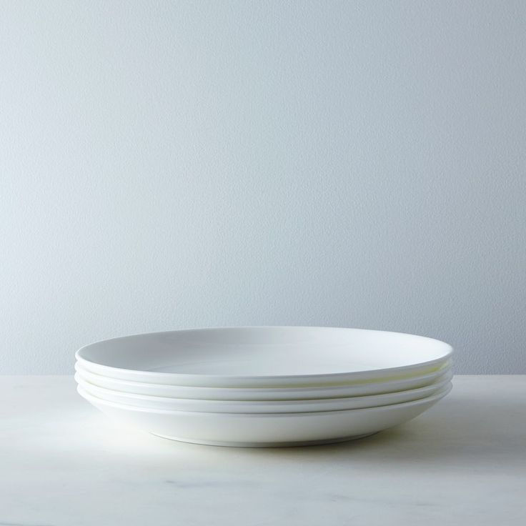 Purio White Dinner Plates (Set Of 4)   Whiteware    Flatware U0026 Dinnerware    Fortessa   Shop