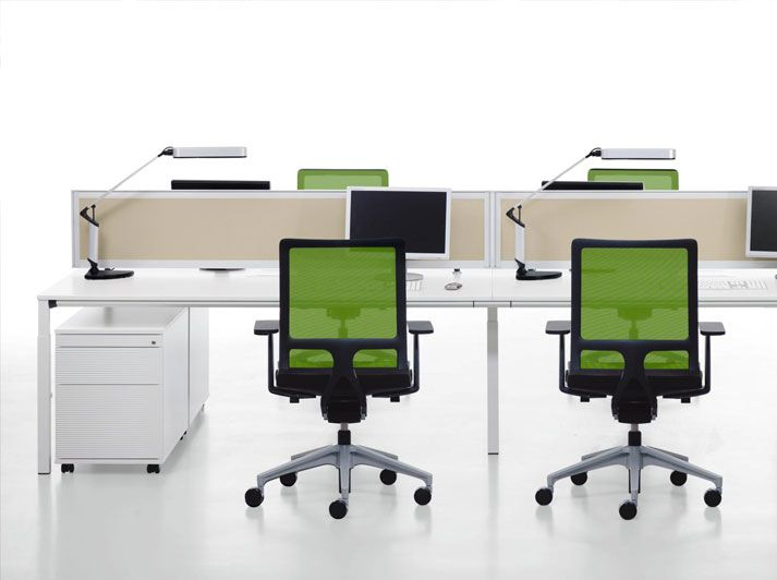 Temptation Four workstation system from Fuze Business Interiors