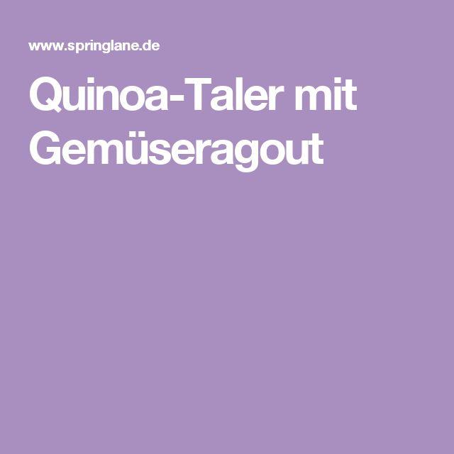 Quinoa-Taler mit Gemüseragout