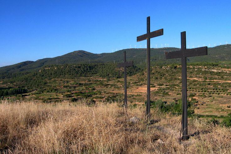 Las tres cruces y el pico Cabero