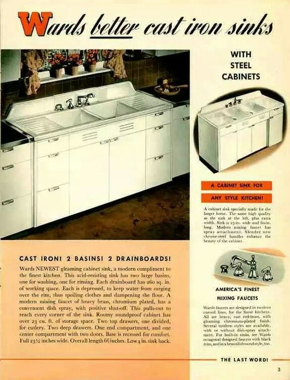 1941 Montgomery Ward Ideal Matched steel kitchen cabinets ...
