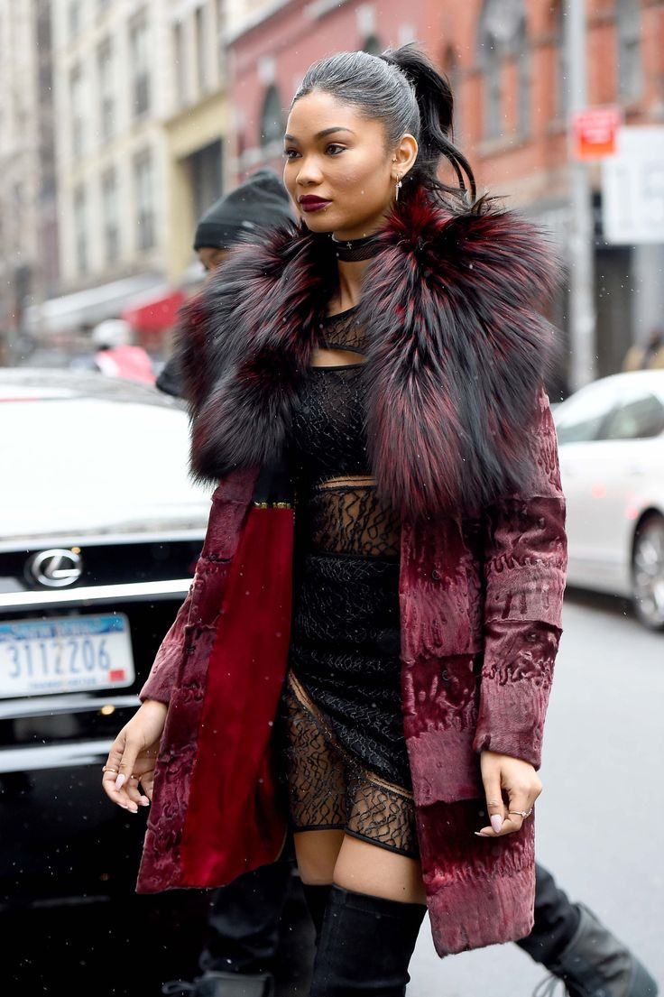 "i-will-always-have-paris: "" celebritiesofcolor: "" Chanel Iman out in NYC "" i-will-always-have-paris.tumblr.com """
