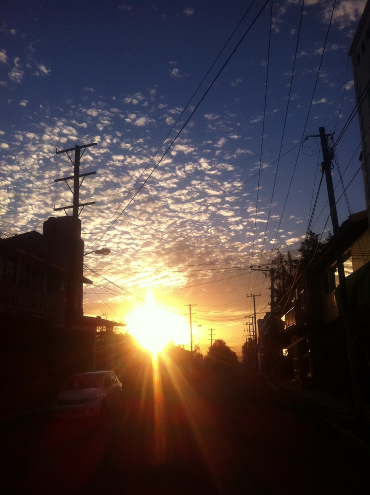 The sun goes down in my town