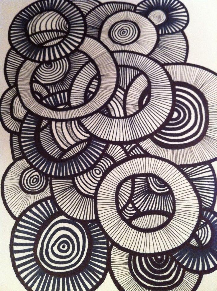 line pattern patterns principle elements principles doodle overlapping element explain