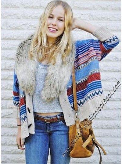 Tribal Print Chunky Cardigan - TeenFashion  US$49.99 Free shipping worldwide  #fashion #cardigan #outerwear #jumper #top #knitwear #cosy #casual #winter #spring #teen #teenfashion #girl