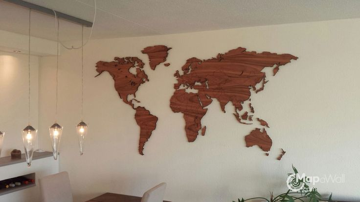 World map Palisander – Mapawall.com