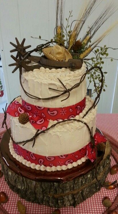 Western themed cake | my cakes | Pinterest