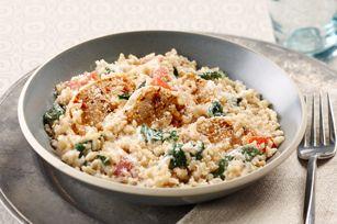 Creamy Rice, Chicken & Spinach Dinner