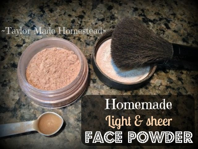 HOMEMADE FACE POWDER: With all the hype these days about toxins in cosmetics, I'm happy to find a solution that works well for pennies #TaylorMadeHomestead