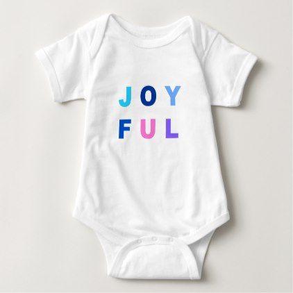 Colorful Joyful Baby Bodysuit - baby gifts child new born gift idea diy cyo special unique design