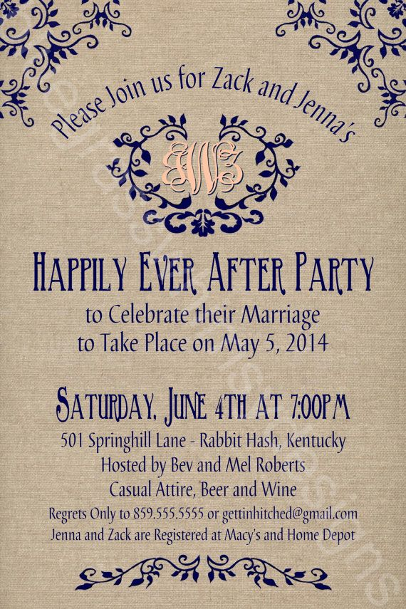 Best 25 Wedding reception invitations ideas – Wedding Party Invitation