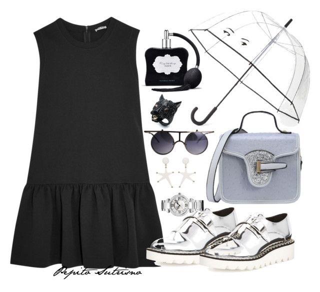"""Little Black Dress"" by pepito-sutrisno on Polyvore featuring Miu Miu, STELLA McCARTNEY, Marni, Chopard, Kate Spade, Victoria's Secret and Alexis Bittar"