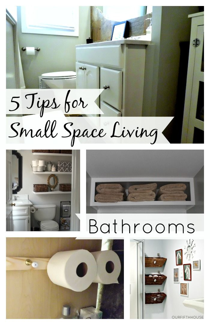 5 useful tips for small space living with bathrooms.