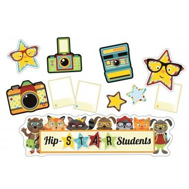 Hipster Hip-STAR Students Bulletin Board Set