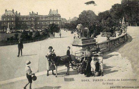 Le jardin du Luxembourg en 1900