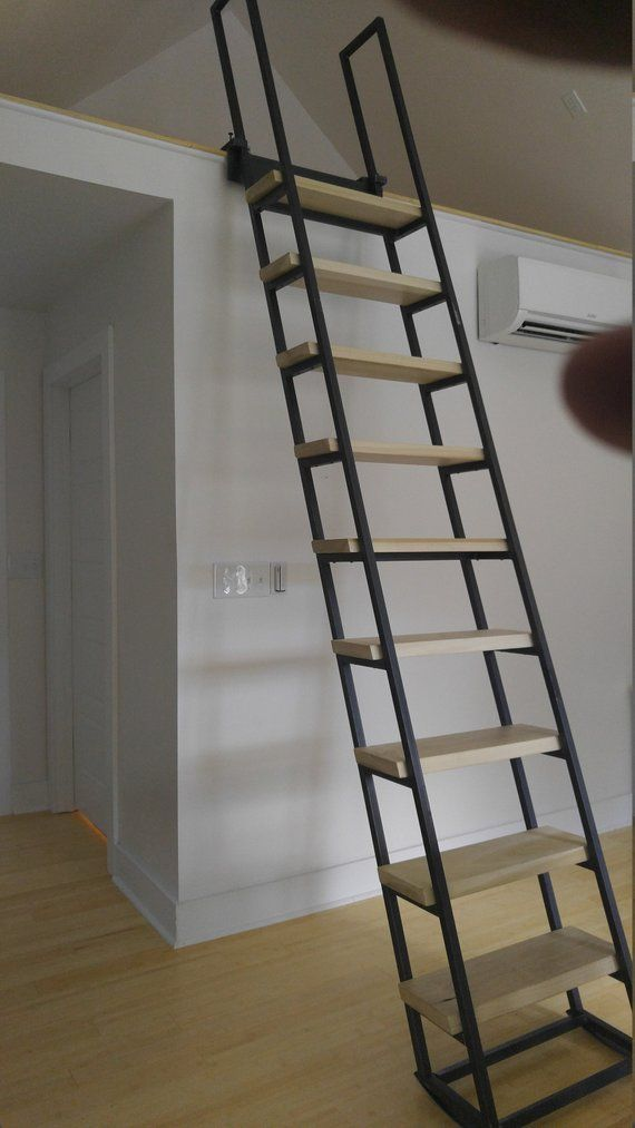 8ft Loft Ladder Free Shipping To Your Door Etsy Loft Ladder Staircase Design Ladder