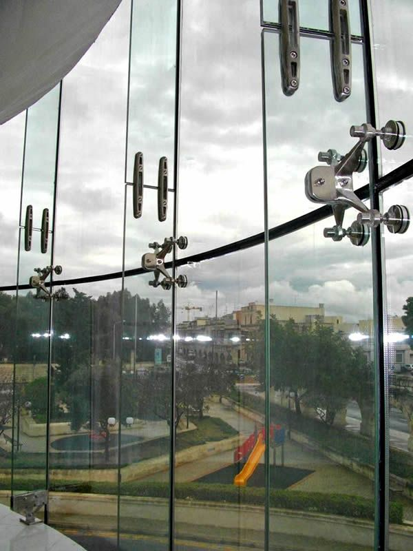 Spider Glass Curtain Walls Bolted Point Fixed Glazing