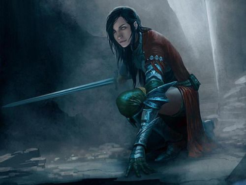 """sciencefictionally: """"Warrior Woman - artist unknown """""""