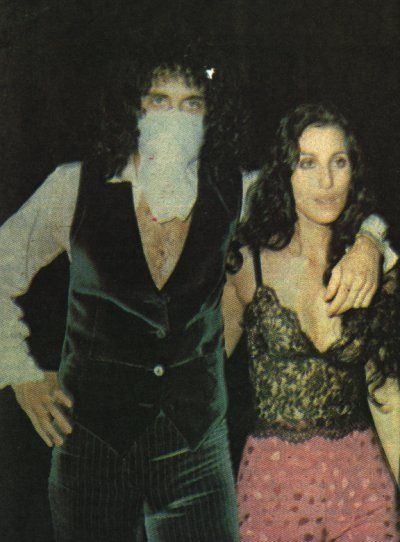 cher and gene simmons.