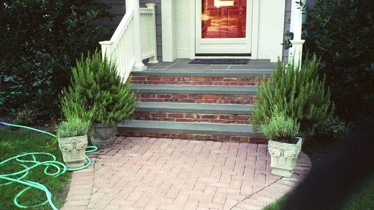 Bluestone Steps Brick Risers Front Steps Pinterest