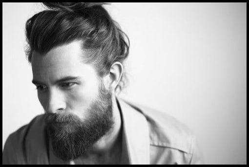 Männer Mit Bart Und Langen Haaren Zopf Haare Frisur Männer