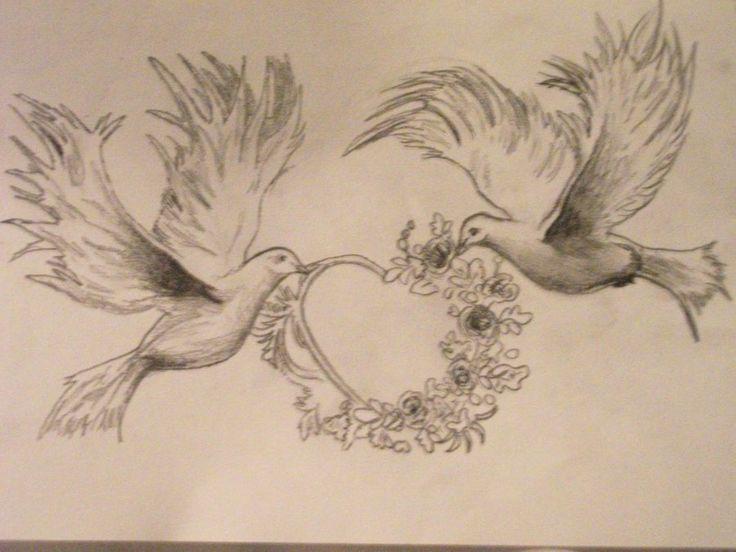 Tattoo design sketch- doves by ~Madschquee on deviantART ...