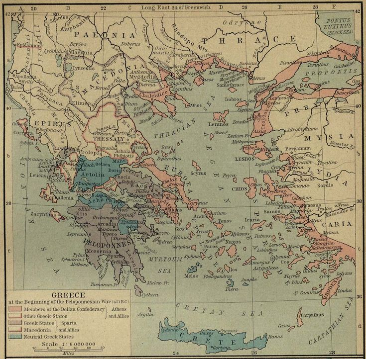51 best greece historical maps images on pinterest map of greece at the beginning of the peloponnesian war 431 bc sciox Images