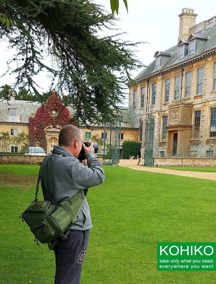 Kiwidition® KOHIKO™ camera backpack at the outdoor photo set.