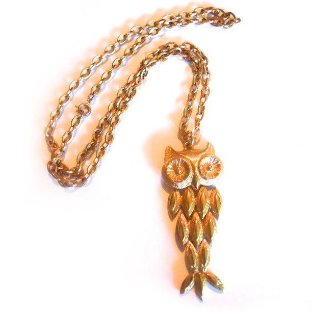 Owl Pendant Necklace.