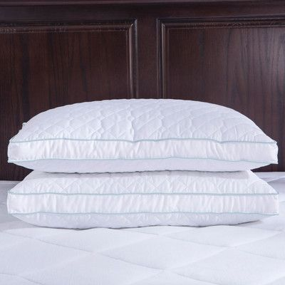 Puredown Goose Feathers Pillow Size: Standard/Queen