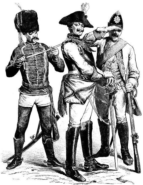 немецкие военные, 18 век