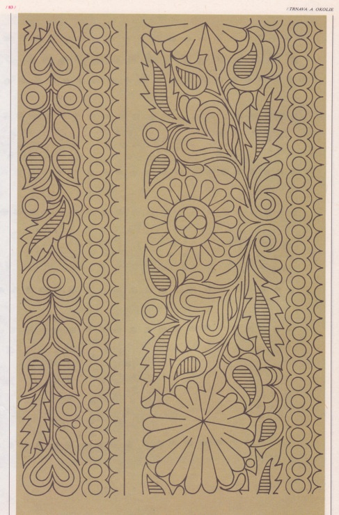 Slovak ethnic embroidery pattern