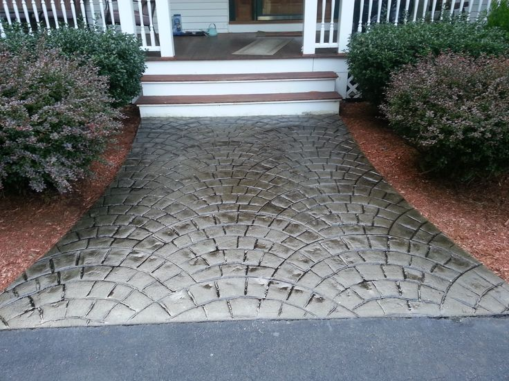 Stamped Concrete Walkway Using European Fan. Myrtle Beach SC (Job)