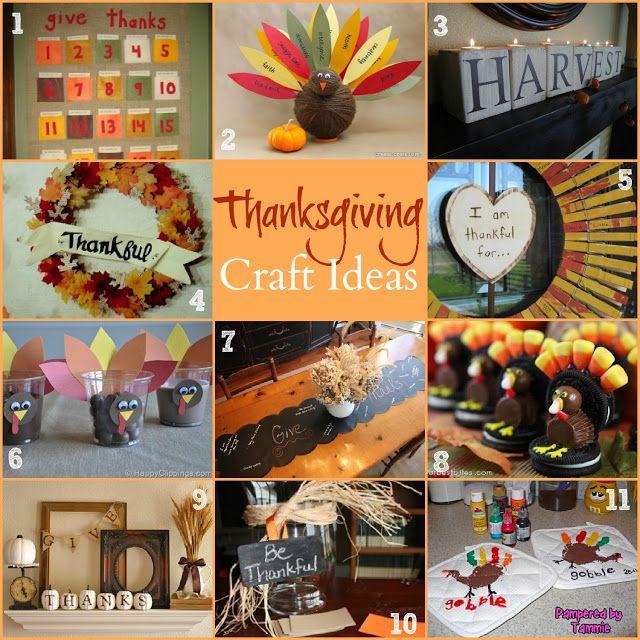 Thanksgiving Crafts Round Up