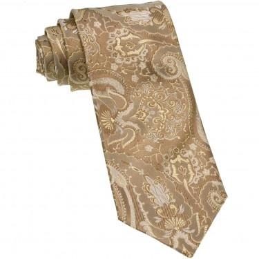 Cravata din matase de Como, cu model Paisley, pentru Ocazii Speciale