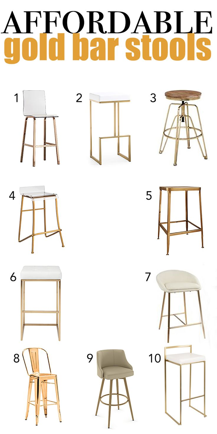 10 Affordable Gold Bar Stools For Home Design Gold Bar