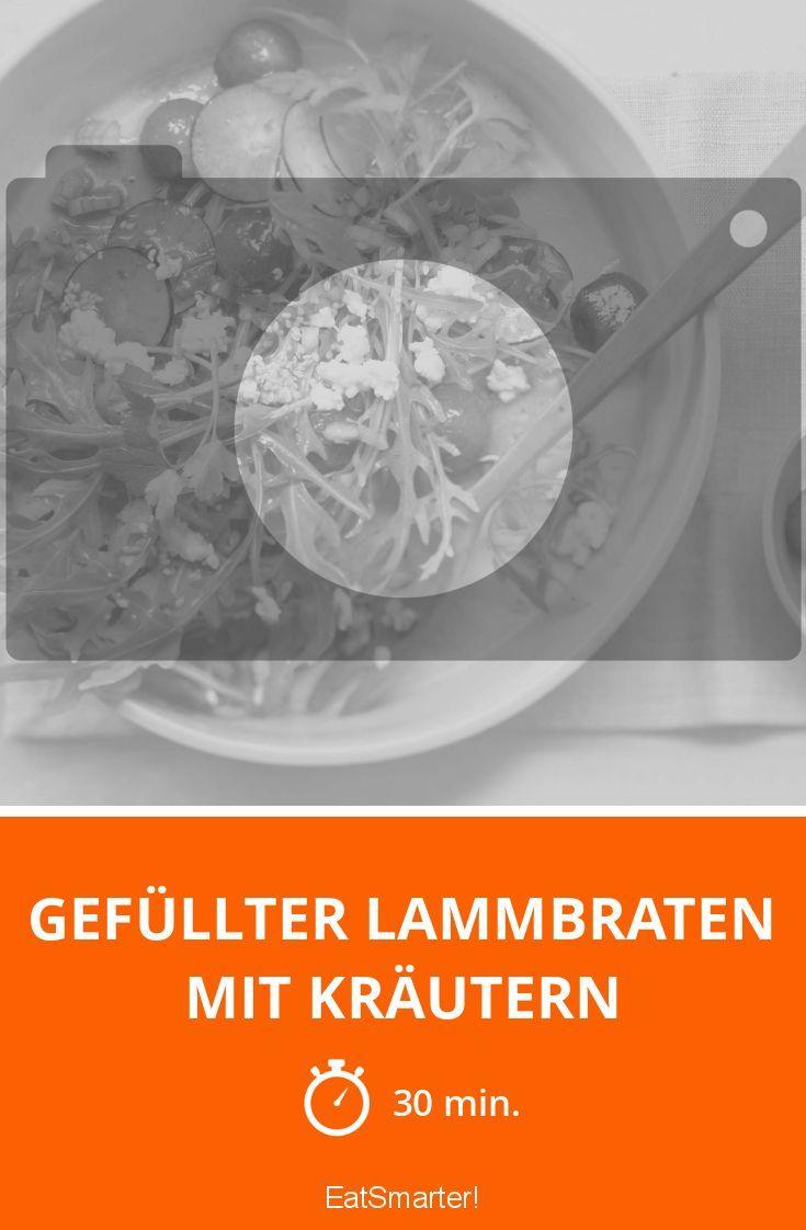 Gefüllter Lammbraten mit Kräutern