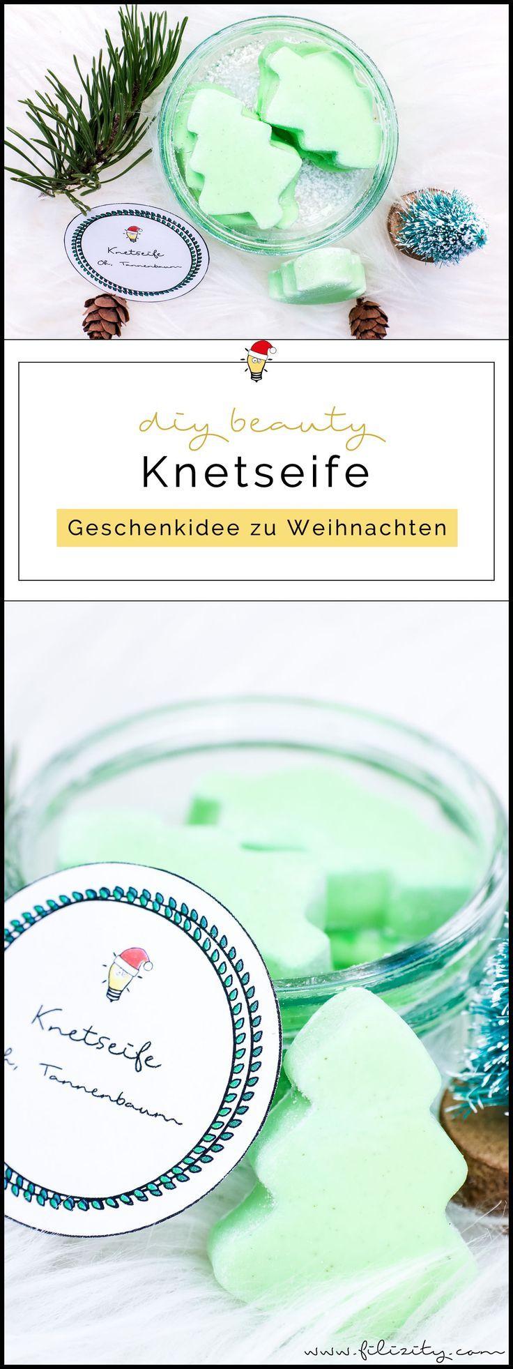 """Weihnachts-Geschenkidee: DIY Knetseife """"Tannenbaum"""" selber machen"""