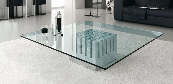 Scacco konferenční stolek / glass coffee table